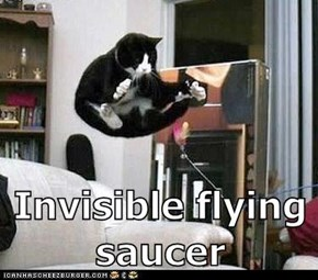 Invisible flying saucer