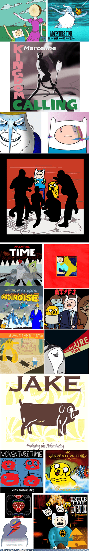 Music FAILS: Adventure Time Album Covers