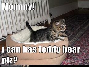Mommy!  i can has teddy bear plz?