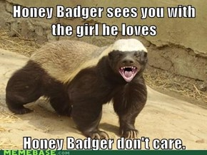 Honey Badger Don't Want Crazy.