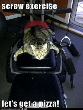 Lolcats: Pizza Kind ob Sownds Liek Treadmill!