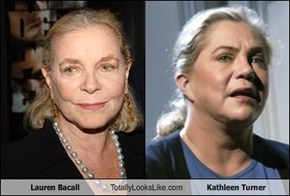 Lauren Bacall Totally Looks Like Kathleen Turner