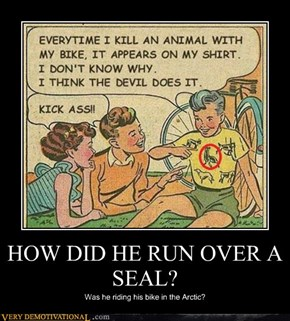 HOW DID HE RUN OVER A SEAL?