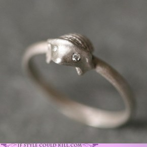 Tiny Hedgehog Ring
