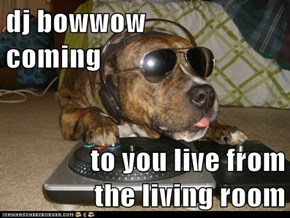 dj bowwow                            coming  to you live from        the living room
