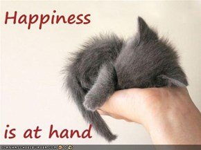 Happiness  is at hand