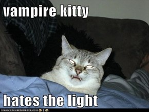 vampire kitty  hates the light