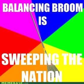 Balancing broom