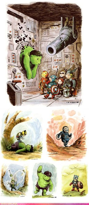 If The Avengers Were to Visit The Hundred Acre Wood