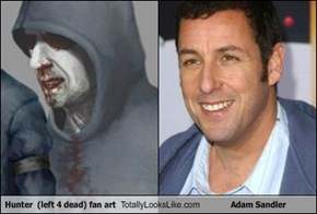 Hunter  (left 4 dead) fan art Totally Looks Like Adam Sandler