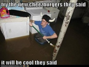 try the new cheezburgers they said  it will be cool they said