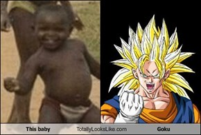 This baby Totally Looks Like Goku