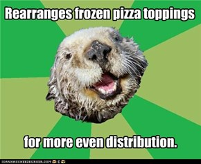 Animal Memes: OCD Otter - Convenience Should Not Equal Carelessness