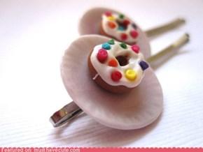 White Donut Bobby Pins