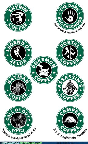 If Starbucks Made Video Game Logos