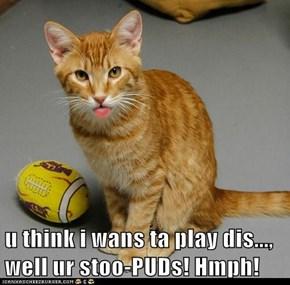 u think i wans ta play dis..., well ur stoo-PUDs! Hmph!