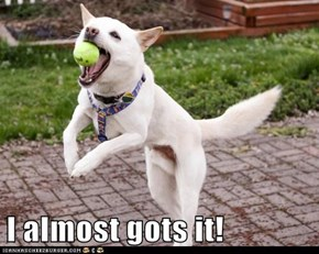 I almost gots it!