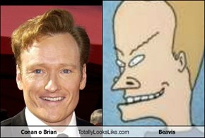 Conan o Brian Totally Looks Like Beavis
