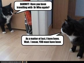 Meeting yourself is always awkward