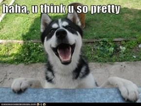 haha, u think u so pretty
