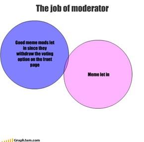 The job of moderator