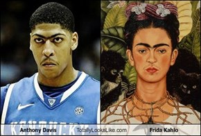 Anthony Davis Totally Looks Like Frida Kahlo