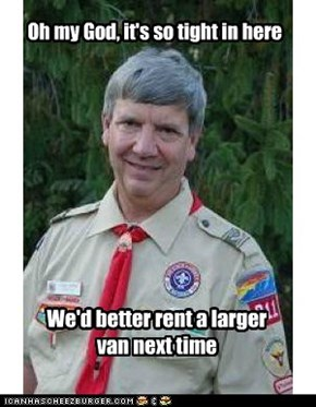 Creepy scoutmaster: no room for personal space