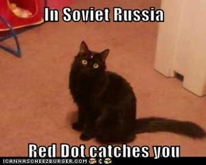 In Soviet Russia  Red Dot catches you
