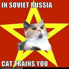 IN SOVIET RUSSIA  CAT TRAINS YOU