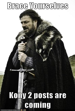 Brace Yourselves  Kony 2 posts are coming