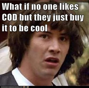 What if no one likes COD but they just buy it to be cool