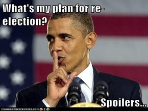 What's my plan for re-election?  Spoilers...