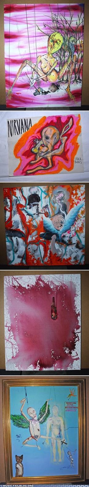 Five Art Pieces by Kurt Cobain Unveiled