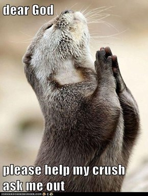 dear God  please help my crush ask me out