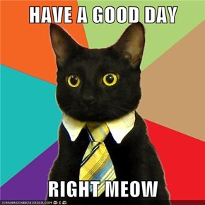 HAVE A GOOD DAY  RIGHT MEOW