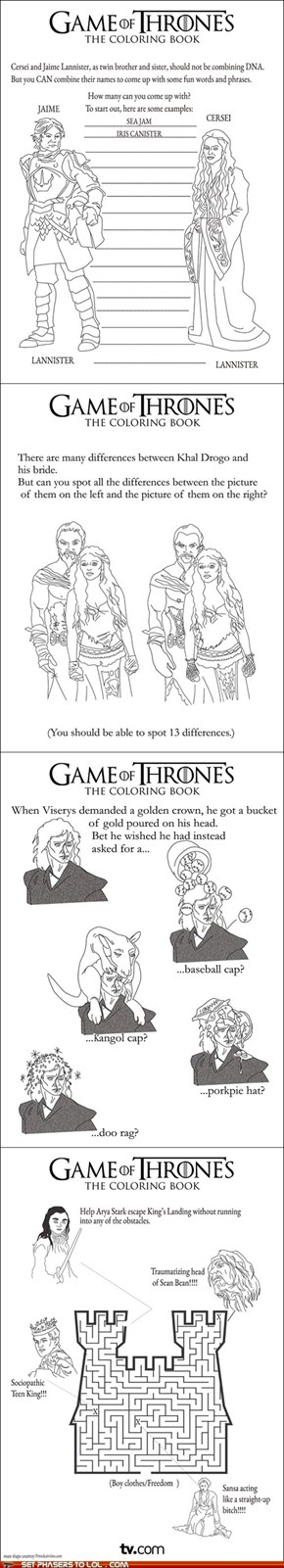 Game of Thrones Activity Book