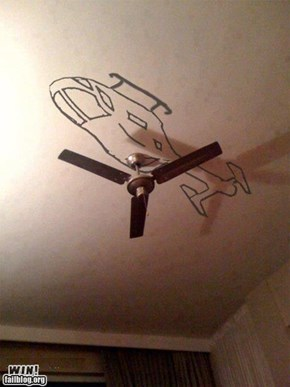 WIN!: Hacked IRL: Ceiling-copter