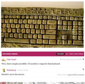 The Mayan Keyboard: Chiching!