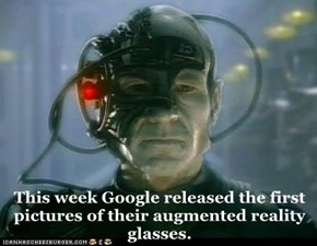 This week Google released the first pictures of their augmented reality glasses.