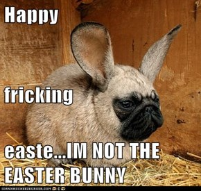 Happy fricking easte...IM NOT THE EASTER BUNNY