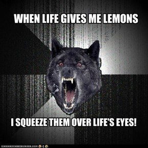 Animal Memes: Insanity Wolf - Make Life Rue the Day