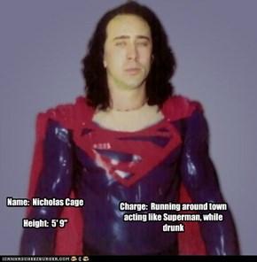 Name:  Nicholas CageHeight:  5' 9''