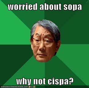 worried about sopa  why not cispa?