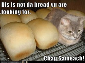 Dis is not da bread yu are looking for.   Chag Sameach!