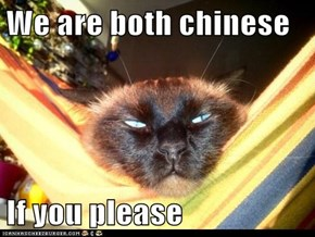 We are both chinese  If you please