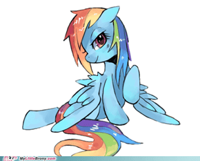 Wet mane rainbow dash