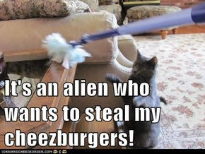 It's an alien who wants to steal my cheezburgers!