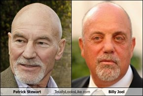 Patrick Stewart Totally Looks Like Billy Joel