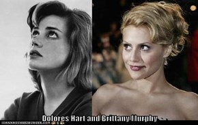 Dolores Hart and Brittany Murphy