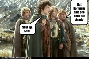 No One Tells Frodo What to Do